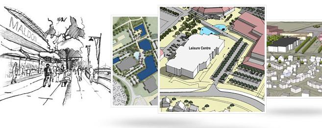 Maldon Leisure Complex Grafik Architecture