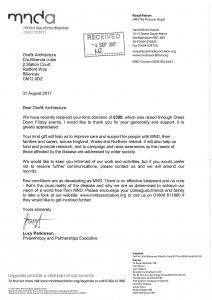 MNDA - Thank you letter